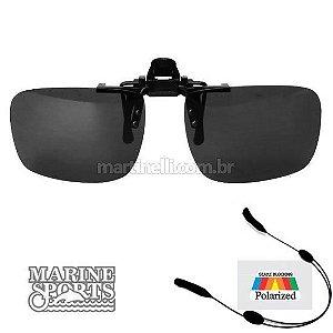 Segurador de óculos retrátil - Preto... + Óculos Clip-On Polarizado Marine Sports MS-0188...