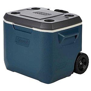 Caixa Térmica Coleman 50 Qt 47,3L Azul c/ Rodas 110130005889