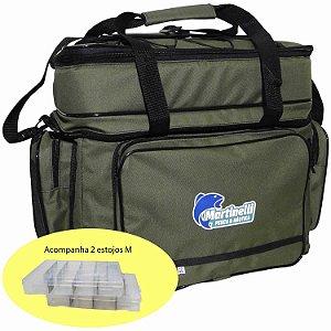 Bolsa de Pesca Martinelli GG verde com 2 estojos M