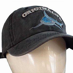 Boné Importado Fisherman Bordado Tubarão