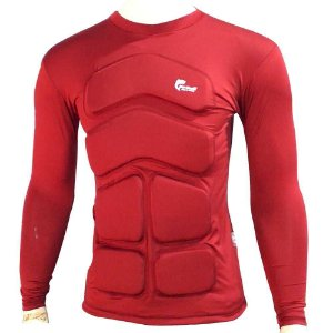 Camisa Flutuadora/Flutuante Mar e Cia - Manga longa - Tam: G - 100kg cor: vermelho