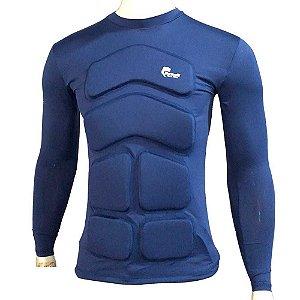 Camisa Flutuadora/Flutuante Mar e Cia - Manga longa - Tam: M - 75kg cor: azul marinho