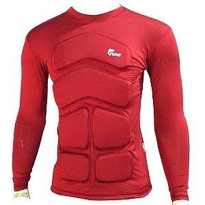 Camisa Flutuadora/Flutuante Mar e Cia - Manga longa - 50kg cor: vermelha