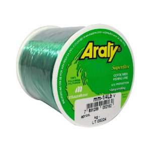 Linha Araty Superflex 1/4lb Verde 0,50mm 470m