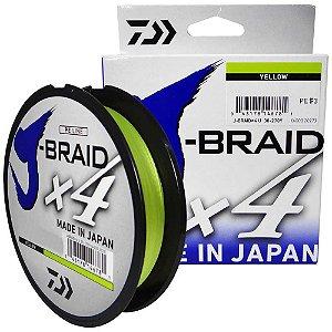 Linha Multifilamento Daiwa J-Braid X4U 30lb 270m - Yellow