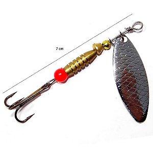 Isca Cricket Spinner N 2 5,3 g 7cm 1 - Prata 60