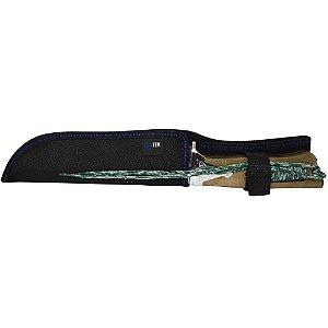 Faca A23 Inox para caça pesca camping c/ bainha