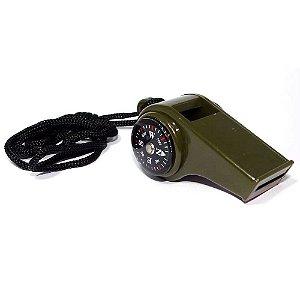 Apito de sobrevivência c/ Bussola e Termômetro Luatek Lk-031