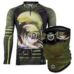 Camiseta de Pesca King 81 GG + Breeze Buff King Tambaking 02 - Proteção UV
