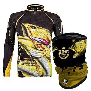 Camiseta de Pesca King  Kf 202 P + Breeze Buff King Douradao 07 - Proteção UV