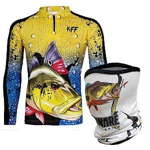 Camiseta de Pesca King 60 - Tucunaré GG + Breeze King Pro Tucunaré - Proteção UV