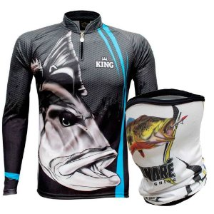 Camiseta de Pesca King  Kf 606 EX + Breeze King Pro Tucunaré