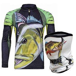 Camiseta de Pesca King  Kf 107 GG + Breeze King Pro Tucunaré