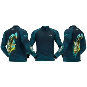 Camiseta de Pesca Presa Viva Tucunaré Azul 04 - XXG