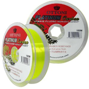Linha Platinum Fluorcarbon Leader Fluo-yellow 0.35mm - 100m