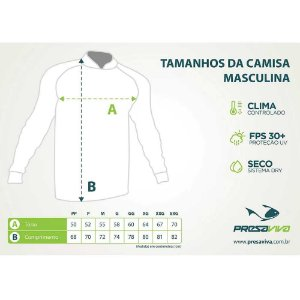 Camiseta de Pesca Presa Viva PV 06 - XG + Breeze Buff Presa Viva PV 06