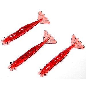 Isca artificial Camarão Nihon Baits 26 Blood 8,75cm c/ 3 un.
