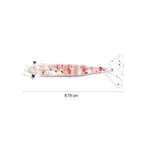 Isca artificial Camarão Nihon Baits 19 Campari 8,75cm c/ 3 un.