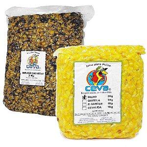 Kit Ceva Milho c/ Sangue 3 Kg + Milho Cozido 3Kg