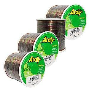 Kit de Linha Araty Superflex 1/4lb Multicolor 0,35mm 930m + 0,40mm 720m + 0,50mm 470m