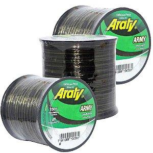 Kit de Linhas Araty Army 0,30mm + 0,35mm Camuflada