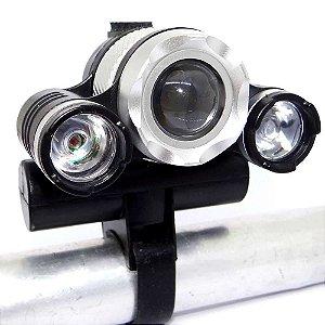 Farol Lanterna de Bike BL-007 Super Leds Recarregável
