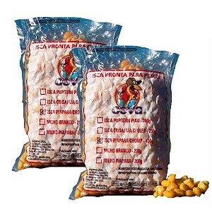 Kit 2 Isca Milho Cozido para Iscas de Piapara c/ 400g cada