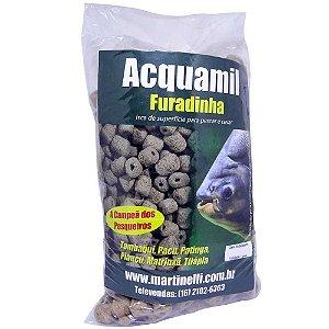 Kit 6 Ração Acquamil Furadinha Natural seca 400g cada
