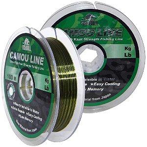 Linha Monofilamento Camou Line 0,35mm 100m