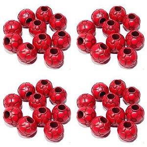 4 Miçanga Diferenciada c/ 10 N 42 Bola Futebol Vermelha