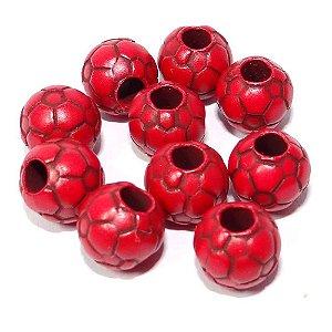 2 Miçanga Diferenciada c/ 10 N 42 Bola Futebol Vermelha