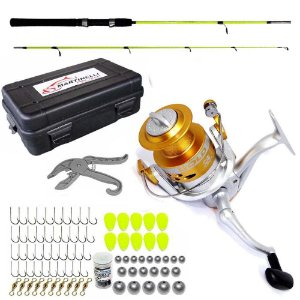 Kit Molinete Maruri Gold 4000+ Vara + Estojo c/ Kit de Pesca