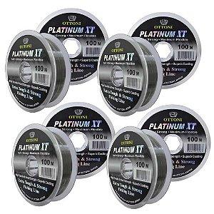 Kit 4 Linhas Monofilamento Platinum XT - 0,35, 0,40, 0,45 e 0,50mm