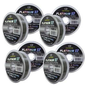 kit 4 Linhas Monofilamento Platinum XT - 0,25, 0,30, 0,35, 0,40mm