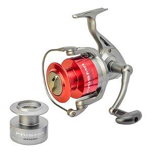 Molinete Marine Prisma 6000 FD + Linha + Vara + Estojo c/ Kit de Pesca