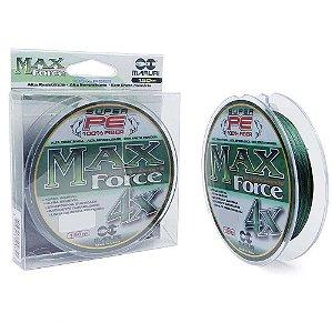 Linha Multifilamento Maruri Max Force 4x 150m 0,24mm 35lb 16kg - Verde