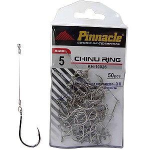 Anzol Pinnacle Encastoado Chinu Ring Nickel N.5 com 50 unidades