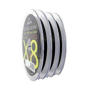 300m Linha Multifilamento Platinum X8 0,24mm 40lb/18.2kg - Verde - Carretéis de 100m contínuos