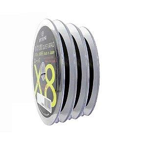 300m Linha Multifilamento Platinum X8 0,18mm 30lb/13.7kg - Verde - Carretéis de 100m contínuos