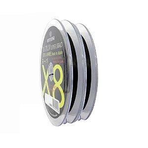 200m Linha Multifilamento Platinum X8 0,18mm 30lb/13.7kg - Verde - Carretéis de 100m contínuos