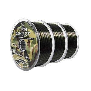 300m Linha Monofilamento Camu XT 0,25mm - 100m - 19,8 lbs contínuos