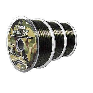 300 Linha Monofilamento Camu XT 0,35mm - 100m - 34,3 lbs  contínuos