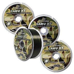Kit 3 Linhas Monofilamento Camu XT 0,35, 0,40 e 0,45mm c/ 100m cada
