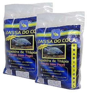 Kit 2 Massa para pesca Do Cola para tilapia 500 gramas cada
