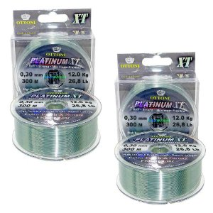 Kit 2 Linha Monofilamento Platinum XT BOX 0,30mm 12,14kg 300m cada