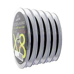 500m Linha Multifilamento Platinum X8 0,24mm 40lb/18.2kg - Verde - Carretéis de 100m contínuos
