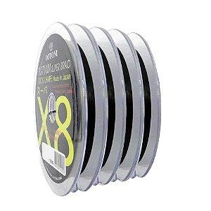 400m Linha Multifilamento Platinum X8 0,24mm 40lb/18.2kg - Verde - Carretéis de 100m contínuos