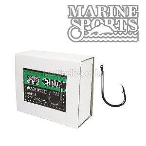 Anzol Marine Sports Chinu Black nickel n. 07 com 100 un.