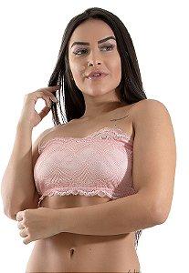 Top de Renda Faixa Ayron Feminino Cores Adulto Feminino Lingerie - CORES SORTIDAS