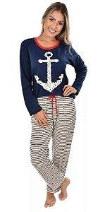Pijama Âncora Longo Adulto Inverno